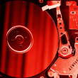 Opened hard disk drive - Stock Photo