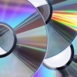 Stock Photo: Three CD / DVD disks