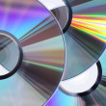 Three CD / DVD disks — Stock Photo