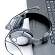 Helpdesk headset — Stock Photo