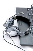 Helpdesk headset — Stock Photo
