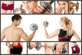 Sport koncept collage — Stockfoto
