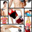 Collage. Fitness centre — Stock Photo