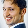 Close-up portrait of handsome young business man — Stock Photo #4987830