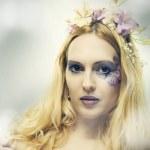 Fashion portrait of beautiful woman. Fairy — Stock Photo #5371504