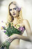 Módní portrét krásné ženy. víla — Stock fotografie