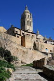 Cathedral in old town of Segovia, Spain — Stock Photo