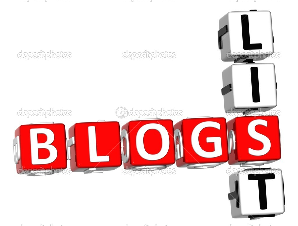 3D Blogs List Crossword on white background — Stock Photo #5254432