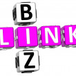 Link Biz Crossword — Stock Photo