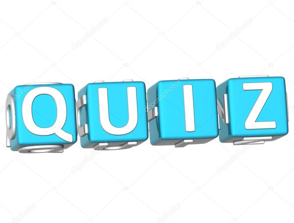 Art Quiz : Quiz cube text — stock photo m prusaczyk