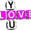 Love You Crossword — Foto Stock