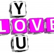 Love You Crossword - Stock Photo