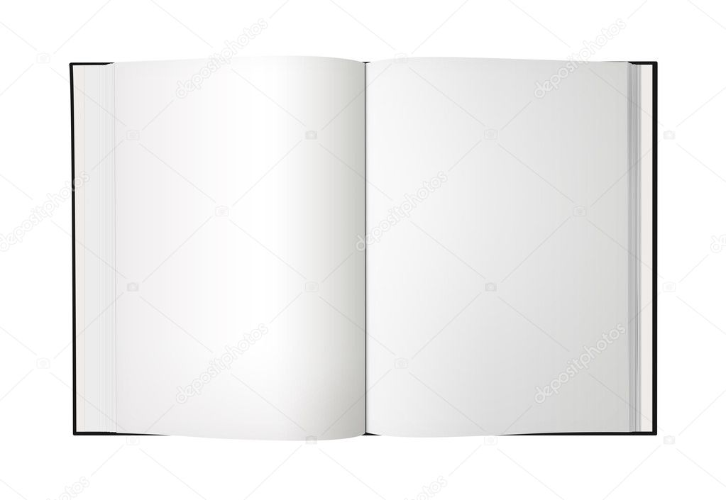 Open Book Icon Open Book With Blank Pages