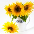 Stock Photo: Sunflowers in vase