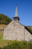 Church in swiss mountains — Stock Photo