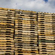 Piles of Pallets — Stock Photo