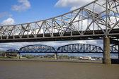 Bridges between Kentucky and Indiana — Stock Photo