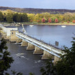 Dam on Illinois River — Stock Photo