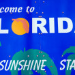 Stock Photo: Welcome to Floridsign