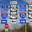 Set of road signs — Stock Photo