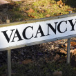 Vacancy sign in front of the hotel — Stock Photo