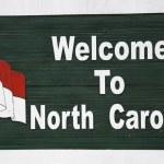 Welkom in north carolina — Stockfoto