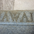 Hawaii word on the stairs — Stock Photo