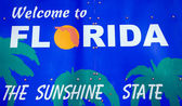Welcome to Florida sign — Stock Photo