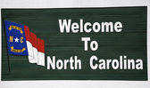 Welcome to North Carolina — Stock Photo