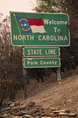 Welcome to North Carolina road sign — Stock Photo