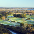 Aerial view of golf course — Stock Photo