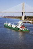 Ship entering port of Savannah — Stock Photo