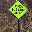 School bus stop ahead — Stock fotografie