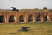 Cannons in Fort Pulaski — Stock Photo