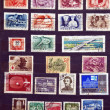 Used stamps from communist Hungary — Stock Photo