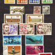Stockfoto: Used stamps from communist East Germany