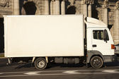 White truck in the city — Stock Photo