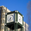 Administration building, clock tower and fountain in Memphis — Stock Photo #4950102