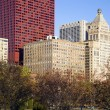 Stock Photo: Autumn in Chicago - MichigAvenure Buildings
