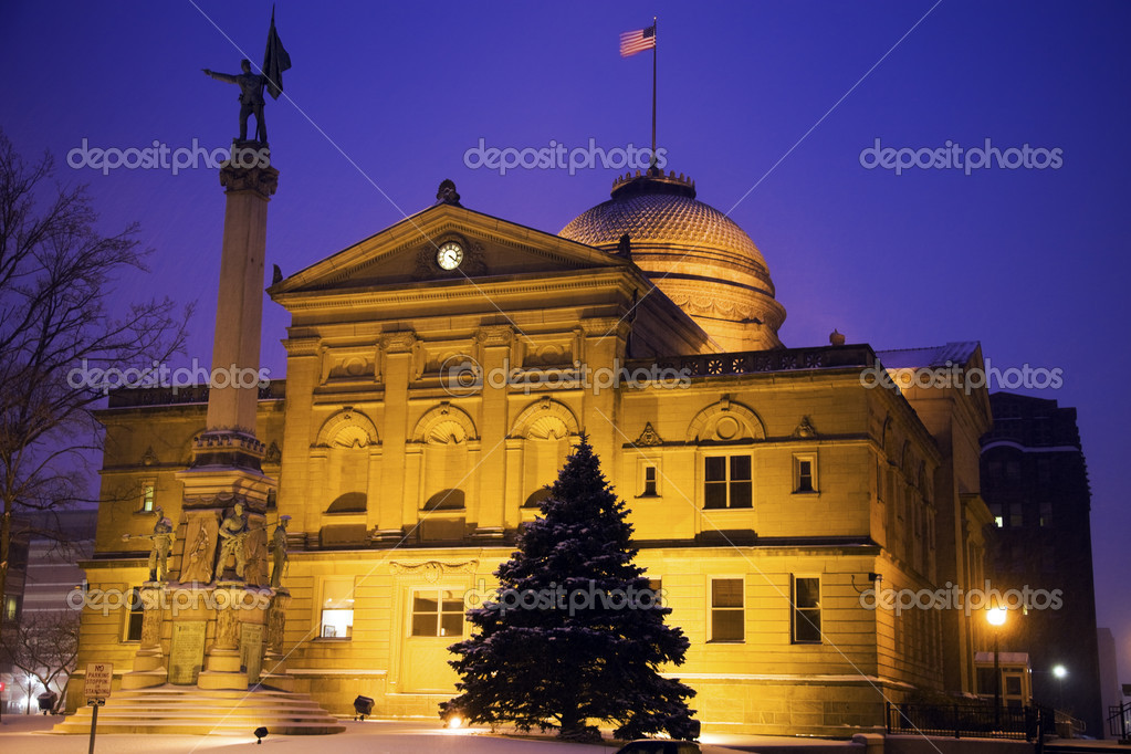 Snowing in South Bend, Indiana  Stock Photo #4950178