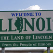 Stock Photo: Illinois Welcome Sign