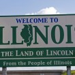 Illinois Welcome Sign — Stok fotoğraf