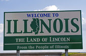 Illinois Welcome Sign — Stock Photo
