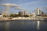 Milwaukee seen from Lakefront — Stock Photo