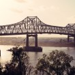 Bridge on Mississippi River in Baton Rouge - Stock Photo
