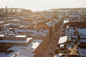 Winter panorama of Helsinki — Stock Photo