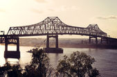 Bridge on Mississippi River in Baton Rouge — Stock Photo
