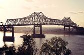 Bridge on Mississippi River in Baton Rouge — Stock Photo