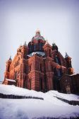 ヘルシンキ、フィンランドのウスペン スキー大聖堂。正方形の写真. — ストック写真