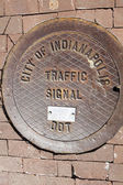 Manhole in Indianapolis — Stock Photo